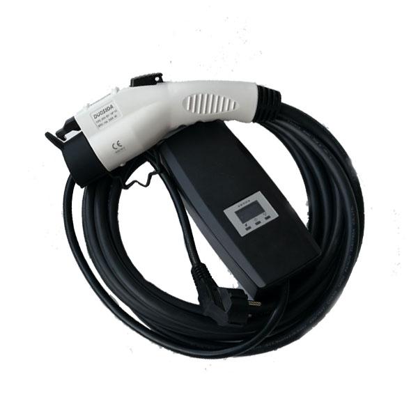 Adjustable Schuko plug to Sae J1772 type 1 EVSE portable 110v charger