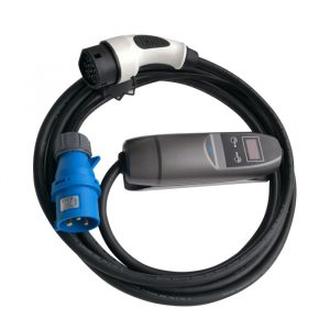 16A Type 2 ev charger mode 2 with blue CEE for BMW/Mercedes