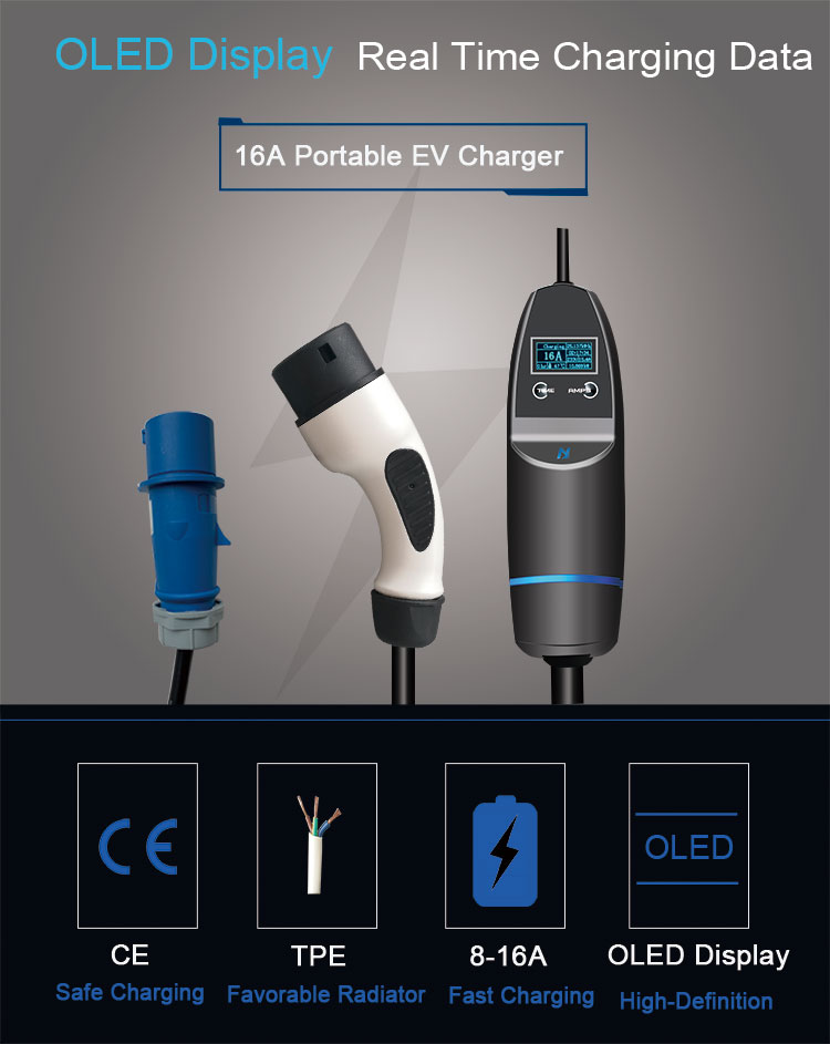 Mode 2 EV Charging Cable